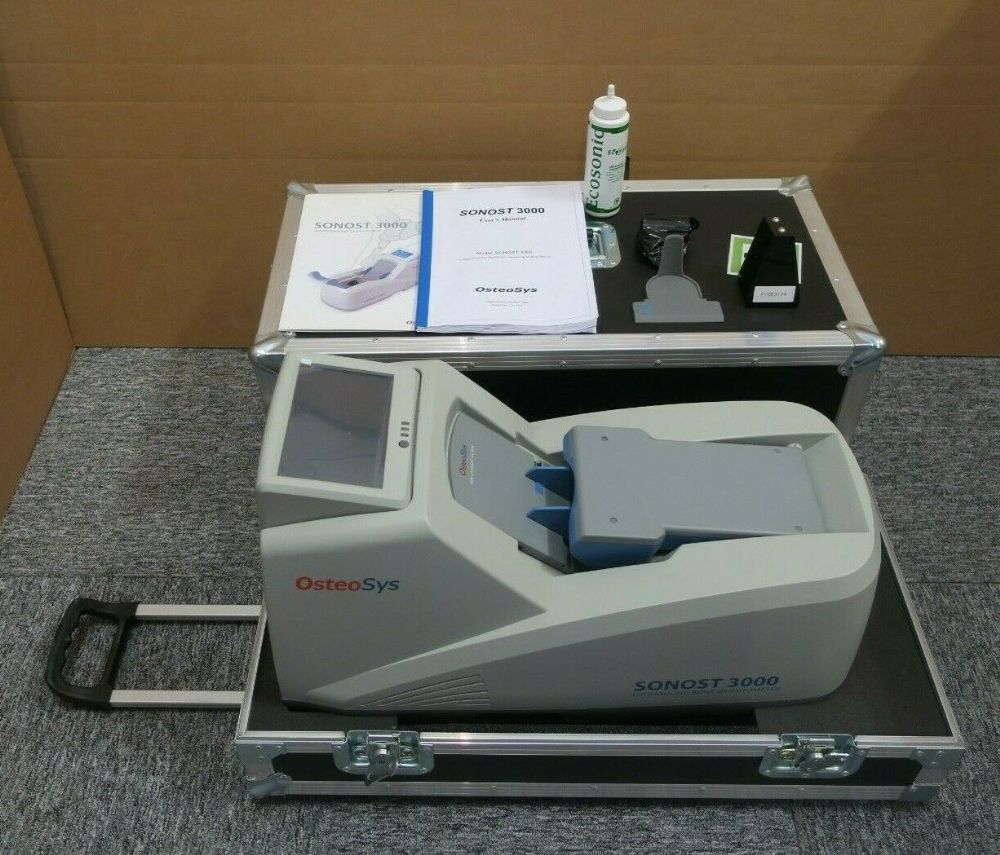 Sonost 3000 Portable Waterless BMD Ultrasound Bone Densitometer Osteoporotic